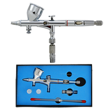 Precision Dual-Action Gravity Feed Airbrush Set with 3 tips (0.2, 0.3 & 0.5 mm), 1/3 oz Funnel Cup(China (Mainland))