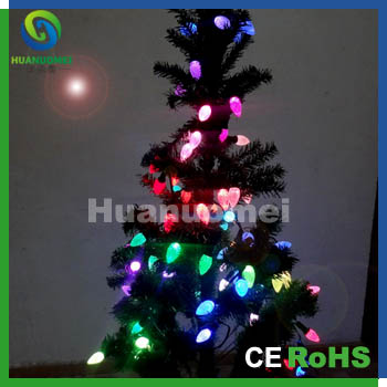 Good price LPPD6803 full color led pixel string light C9 christmas tree decoration string,50pcs/pack(China (Mainland))