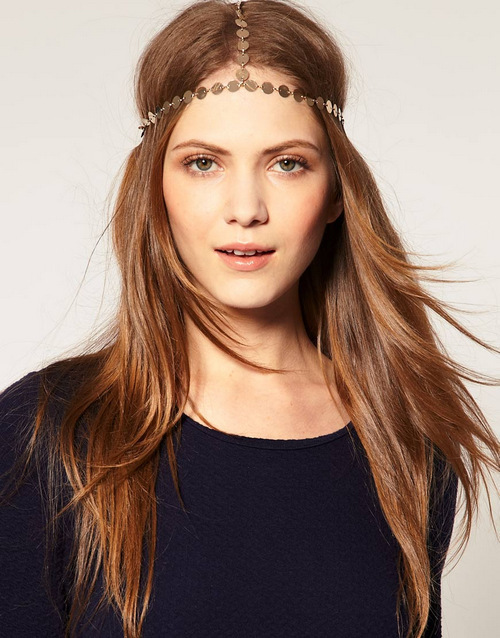 Min.order is $10 (mix order) Free shipping Hot Fashion Head Chain Retro Metal Chain Hair Head Jewelry Head Band Free Shipping