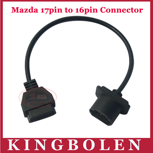 2015 Hottest OBD 2 For Mazda 17Pin Interface to 16Pin OBD-II Female Automobile Adapter Connector Cable(China (Mainland))