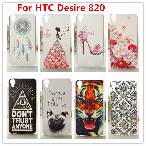 For HTC 820 Case /Luxury Crystal Diamond 3D Bling Hard Plastic Cover Case For HTC Desire 820 D820 D820U D820T Cell Phone Case(China (Mainland))