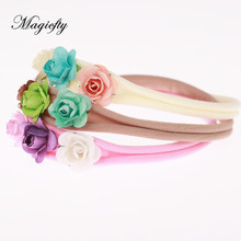 Buy Princess mini rose Flower Crown Headband girl rosette Flower Headbands Newborn Photo Prop Bridal hair Accessories 1pcs for $1.88 in AliExpress store