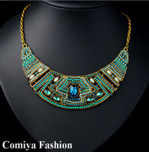 Multi color topshop vintage chuanky rhinestone necklaces statement bijoux women necklace indian jewelry best friends shourouk(China (Mainland))