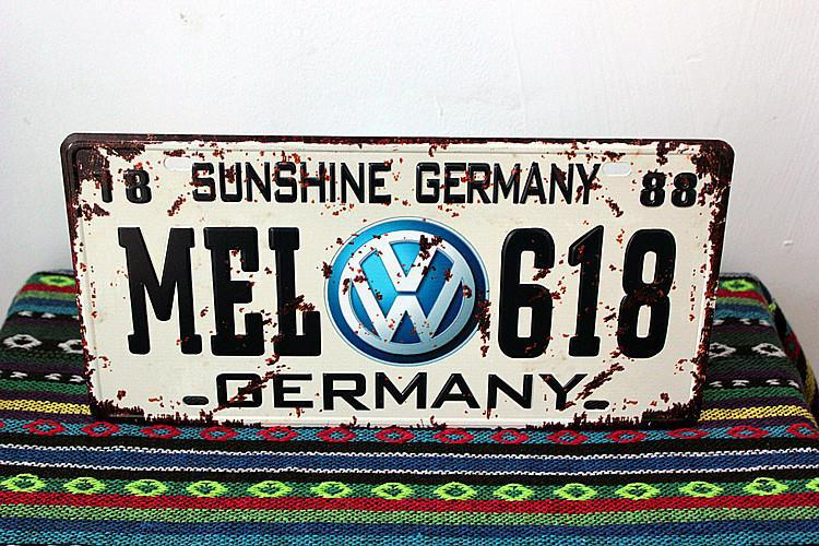"NEW Metal car plates "" MEL-618 "" License Plates metal tin signs SP-CP-075 Wall art craft Iron Retro home decor painting 15x30cm(China (Mainland))"