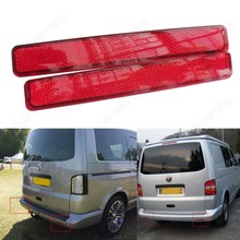 Buy 2x Transporter T5 03-10 Red Lens Rear Bumper Reflector LED Tail Stop Light 2003-11 VW T5 Transporter / Caravelle, CA243 for $21.60 in AliExpress store