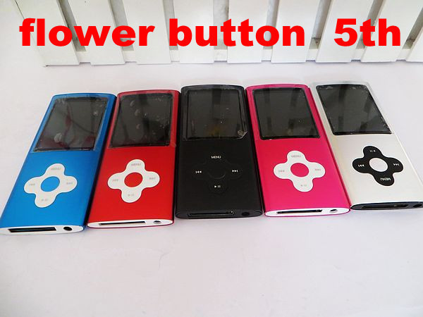 Free Shipping New 5th 8GB MP3 MP4 Player with MP4 Player & Earphone & USB Cable & English User Manual & Crystal Box 5PCS