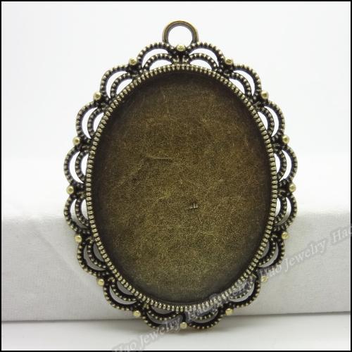 12pcs Vintage Charms Base Pendant Antique bronze Zinc Alloy Fit Bracelet Necklace DIY Metal Jewelry Findings(China (Mainland))