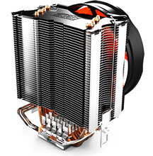 Пк кулер желтый океан делюкс плюс S90F + компьютер CPU кулер 100 мм вентилятор 4x тепловыми трубками радиатора для Socket FM1 / LGA1155 / LGA1156