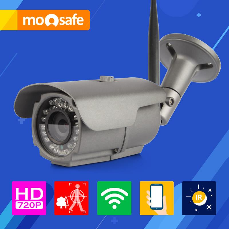 Фотография Mosafe 1mp wifi ip camera 1280*720P 802.11 b/g/n outdoor IR night vision waterproof Motion detection Surveillance Cameras