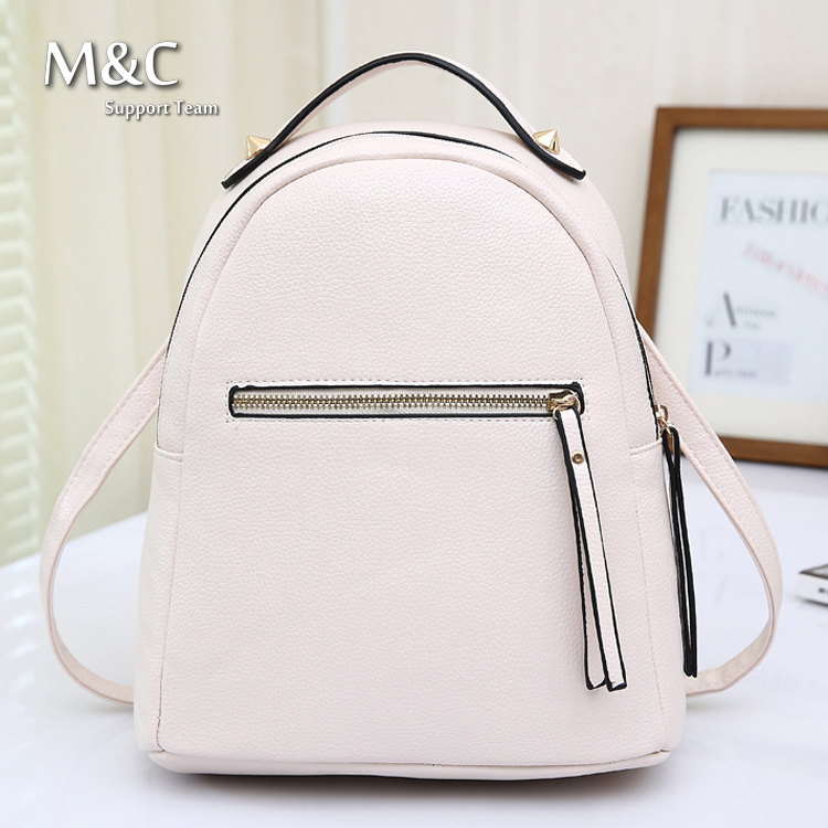 Mochilas Femininas School Bags Leather Backpack Motorcycle Backpack Women Bag School Bags For Teenagers 2016 BD-091(China (Mainland))