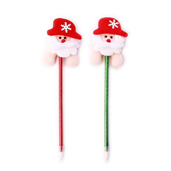 1pcs Christmas Santa Claus Blue Ink Ball Pen Ballpoint children shcool prize gift wholesale(Random Color) New Year(China (Mainland))