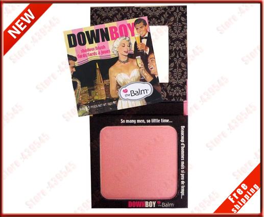 Cosmetic Makeup Most Glamorous Minerals Blusher Make up DownBoy Blush Shadow theBalmxCA4 LightPink New in Box Set lot 1Pcs 1 Pcs(China (Mainland))