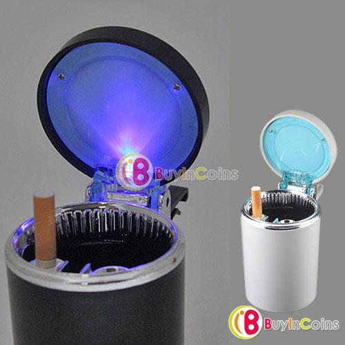 Portable Car Travel LED Light Cigarette Ashtray Holder #3803(China (Mainland))