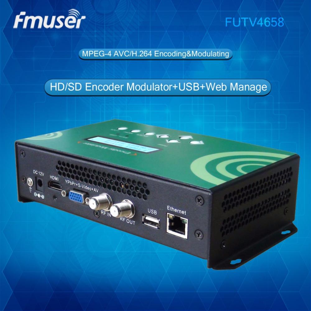 FUTV4658 IPTV QAM DVB-T ATSC ISDBT HD Encoder hdmi Digital TV Modulator in Radio and Video broadcasting(China (Mainland))