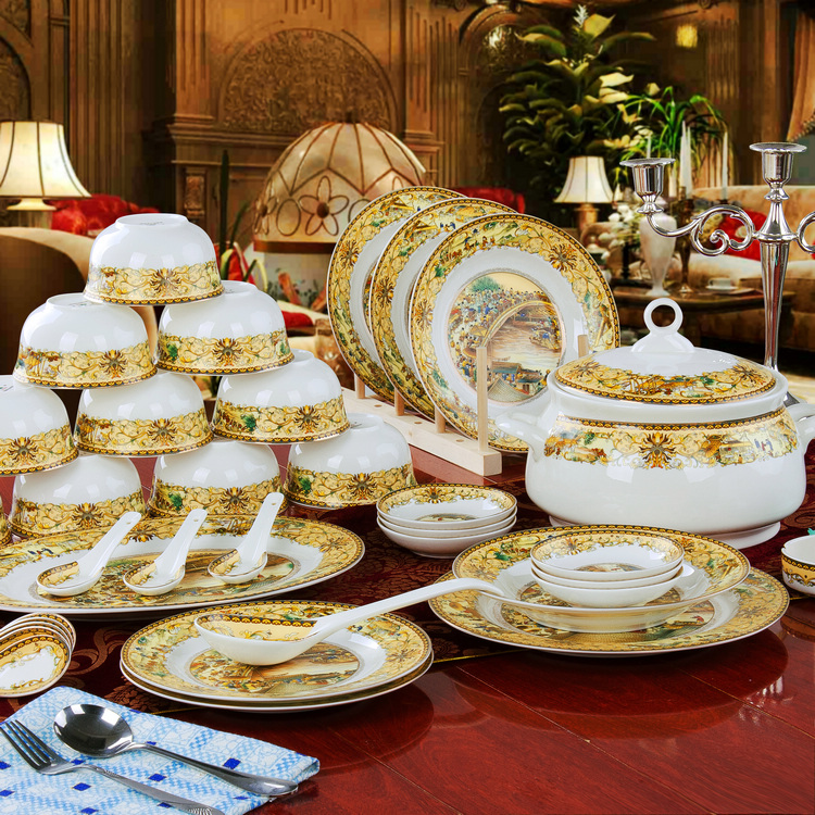 Wedding Gift Dinner Set : china dinnerware set wedding gifts bowl set plate-inDinnerware Sets ...
