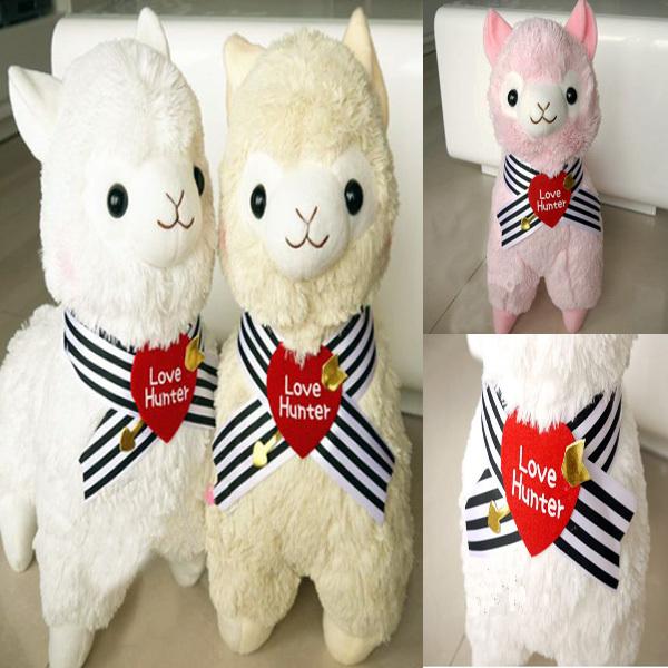 45cm Love Hunter Alpacasso Plush Soft Toys 3 Colors Kawaii Alpaca Plush Toy Dolls Brinquedos Giant Stuffed Animals Sheep(China (Mainland))