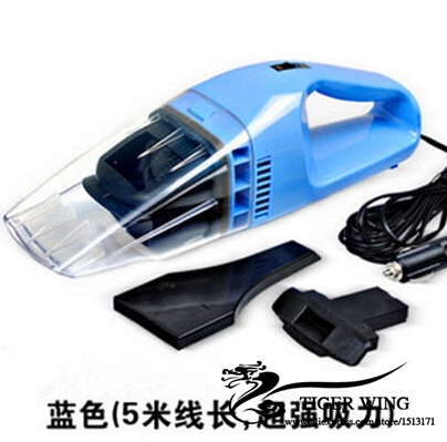 12v 120W Car vacuum cleaner wet and dry dual-use super suction 5meters tile car auto 4 color vacuum cleaner free shipping(China (Mainland))