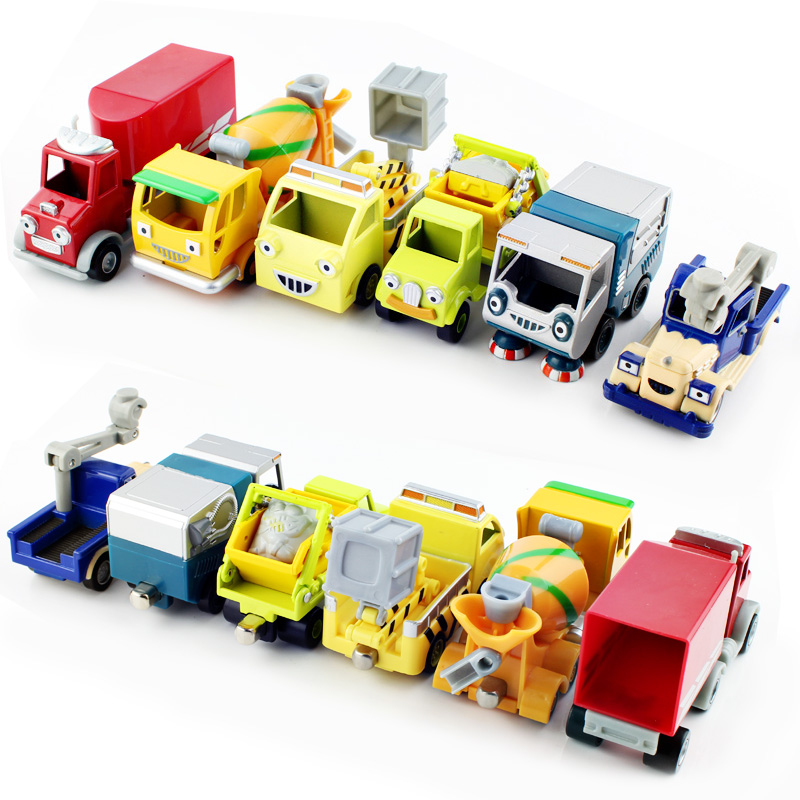 Bob the builder engineering diecast tractor crane farm bulldozer truck vehicle cartoon cars action figure toys durable for baby(China (Mainland))
