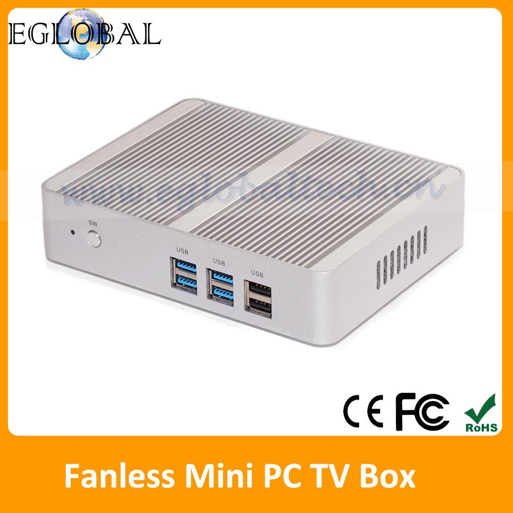 Cheapest Thin Client Slim PC OpenELEC Kodi HTPC Fanless Mini PC Windows 10 TV Box Intel Nuc Core i5 HDMI VGA USB MIC SPK LAN(China (Mainland))