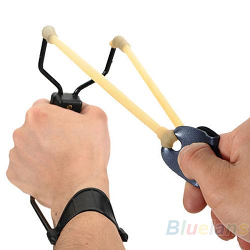 Folding Wrist Sling Shot Slingshots High Velocity Hunt Brace Bow Outdoor Hunting 02Q4 2V77