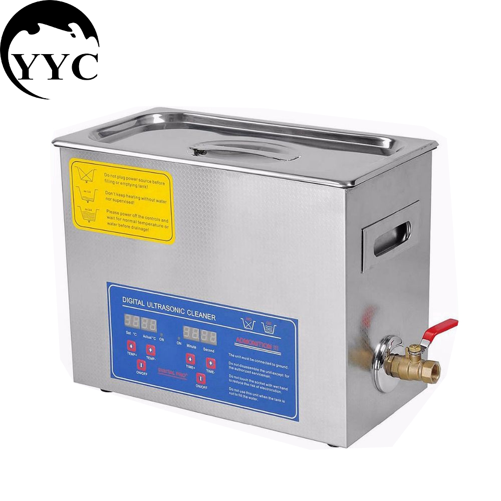 Stainless Steel PS-30A 110V / 220V 6L Industry Heated Ultrasonic Cleaner Heater Timer Cleaner Cleaning Equipment Machine(China (Mainland))