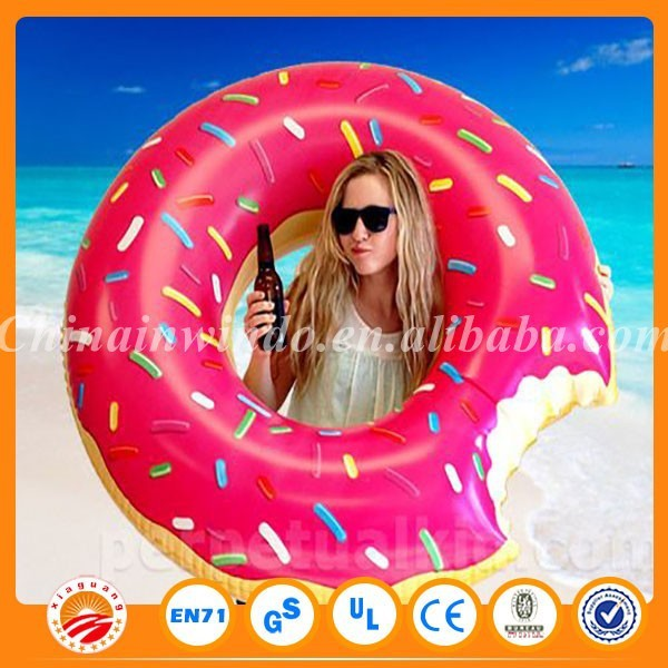 Wholesale price 0.25mm pvc water inflatable donut swim float for sale(China (Mainland))