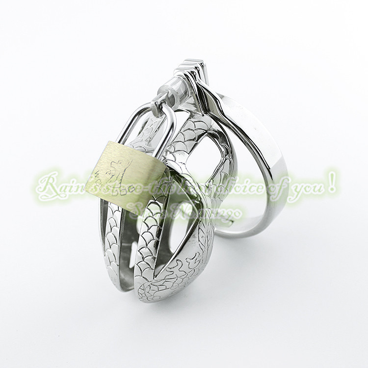 Special Chastity Belt Dragon Totem 65mm Stainless Steel Male Chastity Device Penis Sleeve Sex Toys Sex Products Metal Adult Game(China (Mainland))