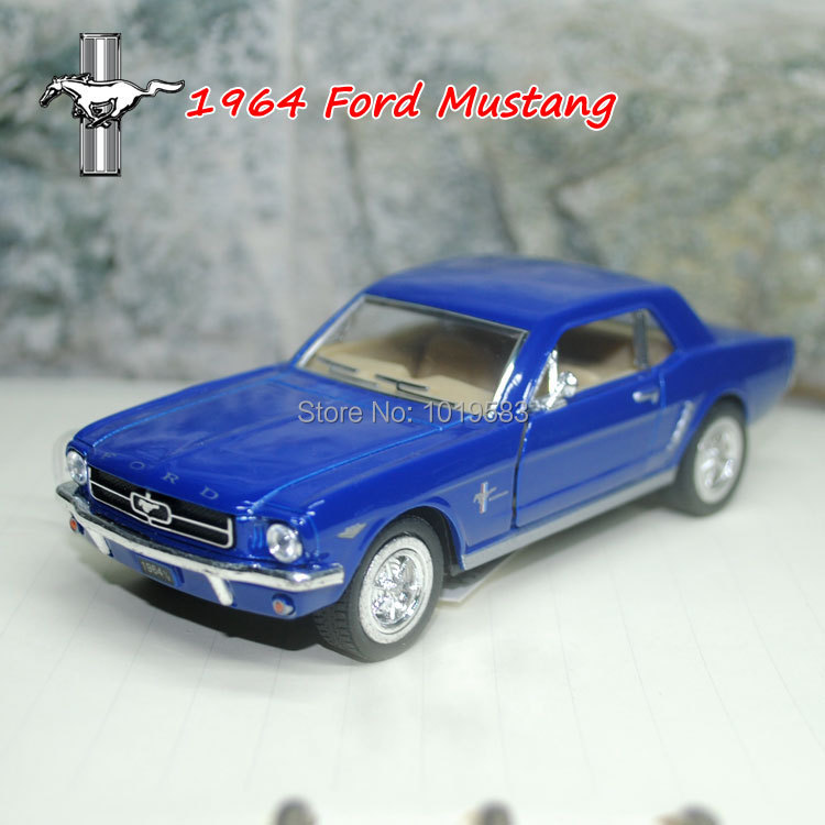 Brand New KT 1/36 Scale Car Toys 1964 Ford Mustang Diecast Metal Pull Back Car Model Toy For Collection/Gift/Kids/Decoration(China (Mainland))