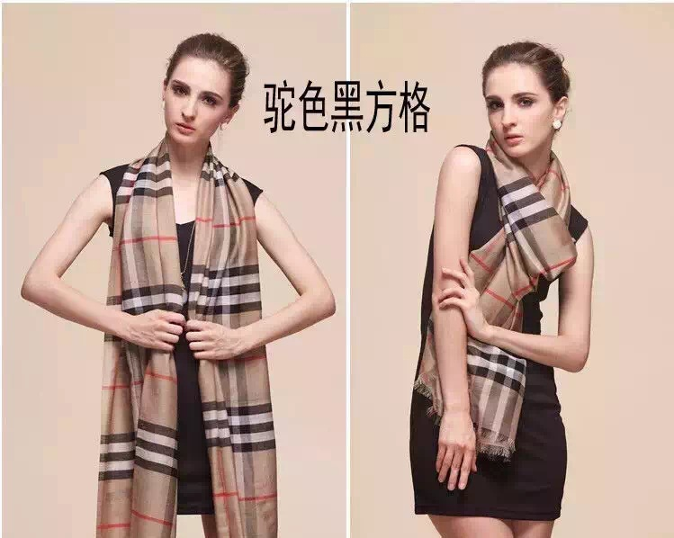 2016 luxury quality female scarf classic check scarf cotton and silk women plaid scarves four colors(China (Mainland))