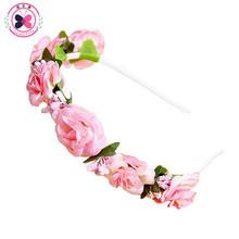 Buy haimeikang Korean DIY Bouquet Hair Ring Headband PE Flower Small Rose Flower Crown Headband Girls Women Bride Hair Accessories for $1.39 in AliExpress store