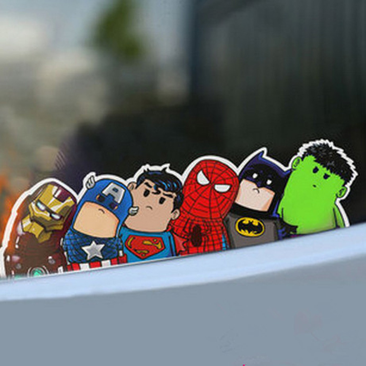 New Car Decorative Car Styling Decor Avengers Car Stickers Reflective Sticker Wry Neck Cartoon CAR 0075