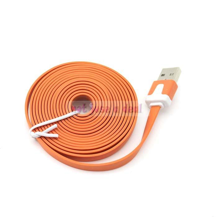 Orange Color Free Shipping 2 Meter Long USB Data Charger Cable for Iphone 4S Drop Shipping(China (Mainland))