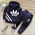 2016 new spring and autumn children sports suit set clothing kids T shirts pants 2 pieces