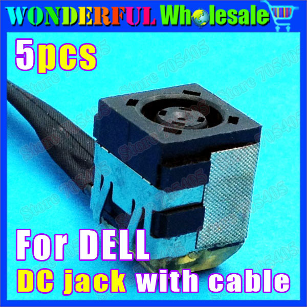 5pcs/lot Laptop DC Jack Power Socket DC Power Jack with cable For DELL notebook DCC-110<br><br>Aliexpress