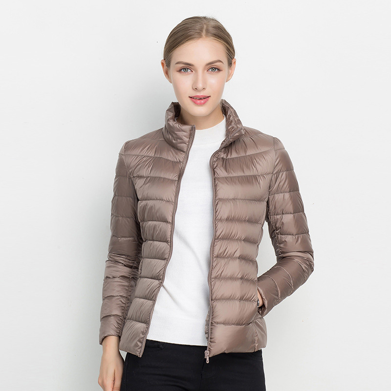 2016 Down OverCoat New Casual 90% White Duck Down Coat Winter Women's New Clothing Jackets Lady Thin Ultralight Windproof Coat(China (Mainland))