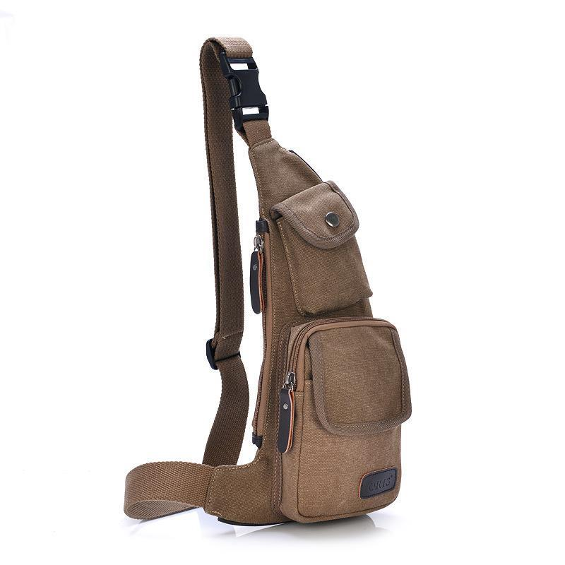 Cool Outdoor Sports Casual Canvas Unbalance Crossbody Sling Bag Shoulder Chest Men - Meet Fashion by Chance store