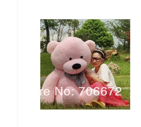 New stuffed pink teddy bear Plush 180 cm Doll 70 inch Toy gift wb8456(China (Mainland))