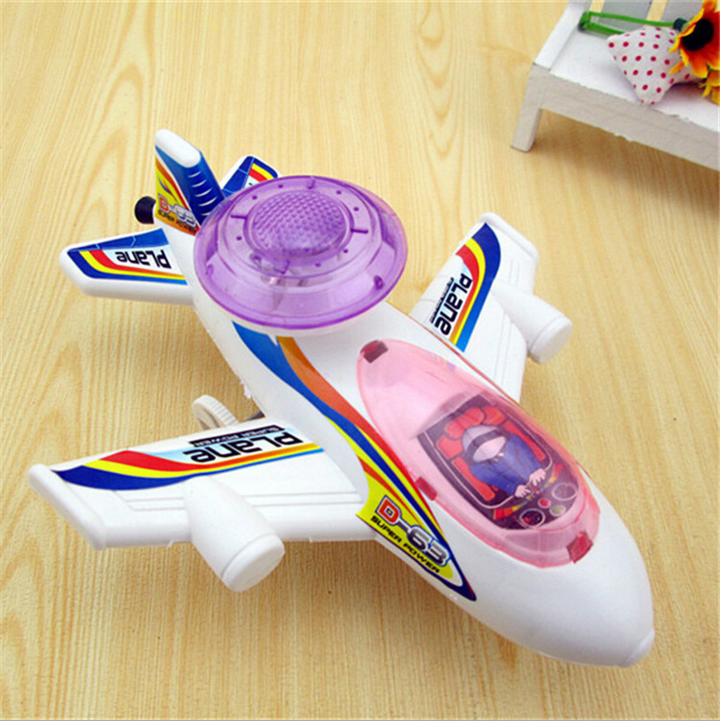 Children Toy Brand Plastic Airplane Pull Back Can Flash High Quality Aircraft Forward Beauty Design Cheap Creative(China (Mainland))