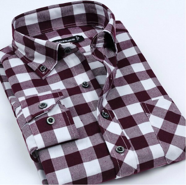 Flannel Men Shirts 2014 New Non Iron Luxury Slim Fit Long Sleeve Brand Formal Business Fashion