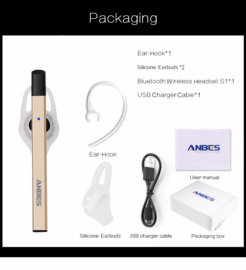 Original Brand Wireless Music Earphone Ultralight Headsets Bluetooth 4.0 Hands Free Earbuds In-ear Outdoor Sports Earphone