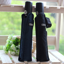 Buy Audi genuine leather handle Japanese brand sun rain Umbrella 3 Fold Anti UV French French royal umbrella men women for $14.92 in AliExpress store