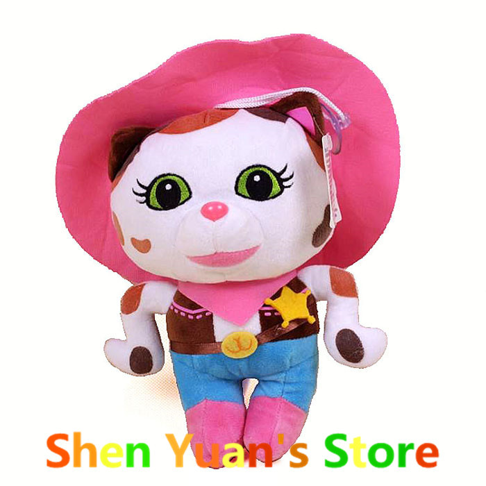 1PC Brand Plush Doll Sheriff Callie's Wild West Cowboy Callie Cat Stuffed Dolls Toy Christmas/Birthday Gifts For Kids Girls Boys(China (Mainland))