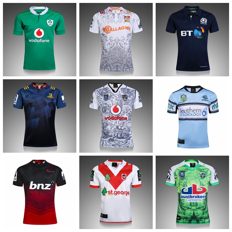 2017 new season Rugby Jerseys top thailand quality highlanderses Rugby hurricanes highlanders Crusaders Shirt size:S-3XL(China (Mainland))