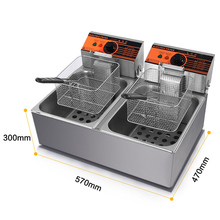 Buy VOSOCO Electric Deep Fryer Multifunctional Household Commercial Single/Double cylinder 2300W electric fryer french fries machine for $192.21 in AliExpress store