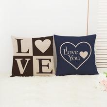 IKEA love heart-shaped pillow linen cushion pillow