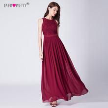 ארוך ערב שמלות 2019 פעם די אלגנטי ואגלי קו קפלים שיפון תחרה פורמליות שמלת המפלגה שמלת EP07391 גלימת דה soiree(China)