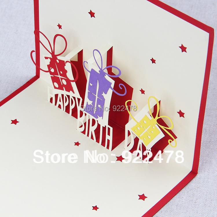3D Stereoscopic Surprise Gift DIY Handmade Birthday Cards
