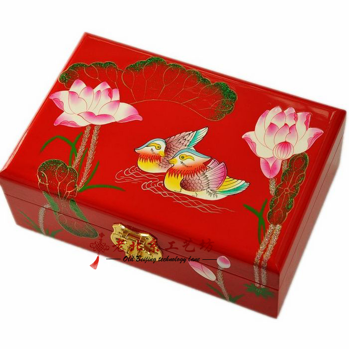Christmas Gifts Chinese Unique Crafts Lacquer Jewelry Box