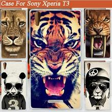 15 patterns colored tiger lion bear design Case Cover FOR Sony Xperia T3 M50w / diy case xperia - deal for everyday store