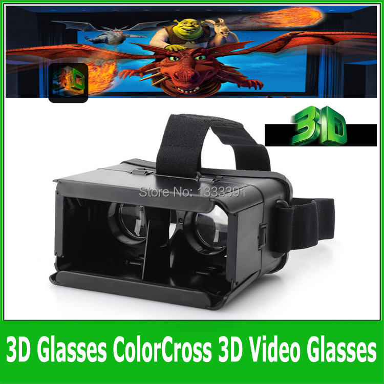 """Hot 3D Glasses ColorCross Universal Google Virtual Reality for iPhone 6 plus 5 5s Samsung s4 4~5.5"""" Smartphones Cardboard Oculus(China (Mainland))"""